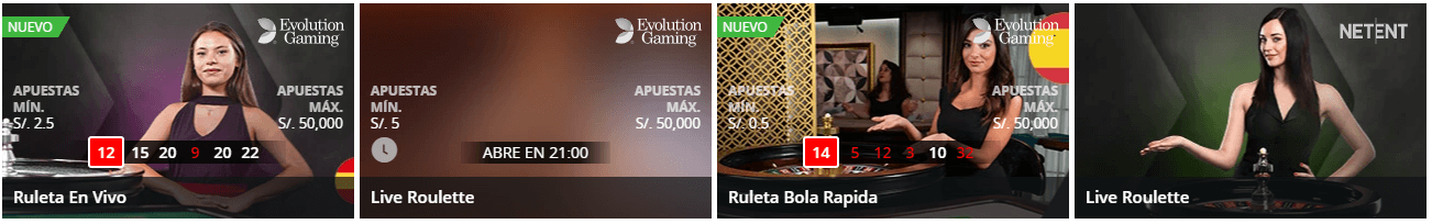 ruleta en vivo Betsson
