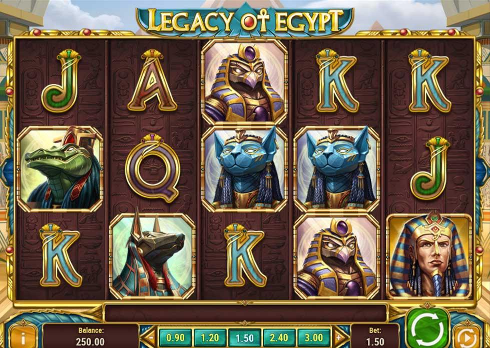 Jugar Legancy of Egypt desde la apps de Betsson
