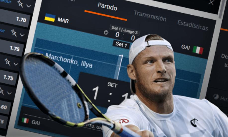 Partido de Tenis con Apuestas en Vivo
